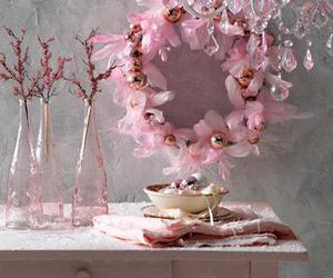 pink, decoration, and christmas image