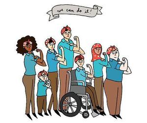 woman, feminism, and we can do it image
