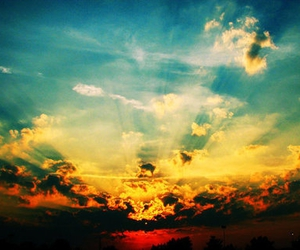 sky, bright, and sunset image