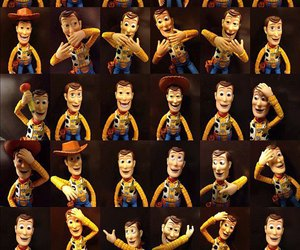 toy story, heart, and woody image