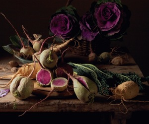 beets, sweet potato, and cabbage image
