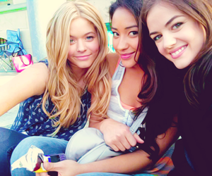 lucy hale, pretty little liars, and shay mitchell image
