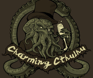 champagne, charming, and cthulhu image