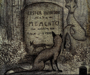 dark, fox, and grave image