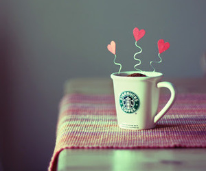 starbucks, coffee, and heart image