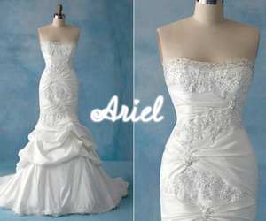 ariel, white, and bridal image