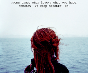 hair, ocean, and quote image