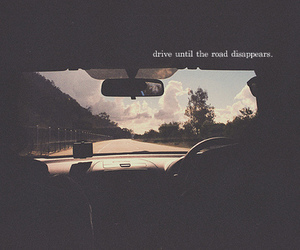 car, disappear, and drive image