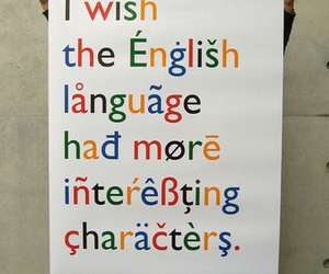 english, language, and typography image