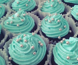 blue, candy, and cupcake image