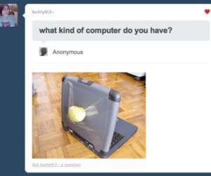 apple, computer, and funny image