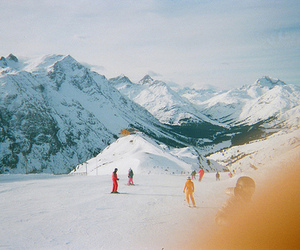 blue, Skiing, and mountains image