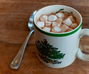 drink, food, and marshmellows image