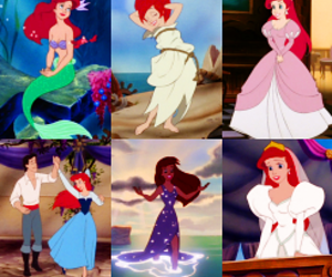 ariel, bride, and disney image