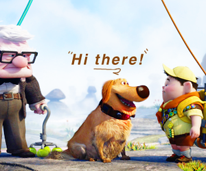 pixar, russel, and text image