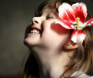 child, flowers, and kids image