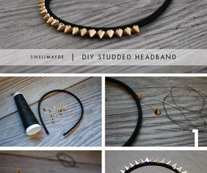 diy, tutorial, and headband image