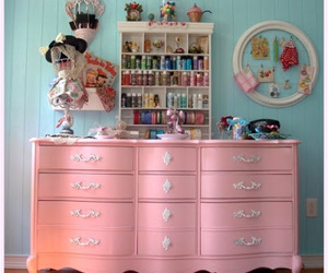 pink, blue, and decor image