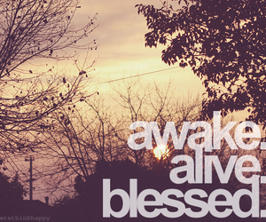 blessed, alive, and awake image