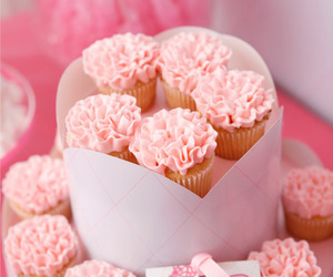 cupcakes, pink, and cute image