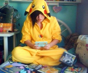 bed, ds, and kigurumi image