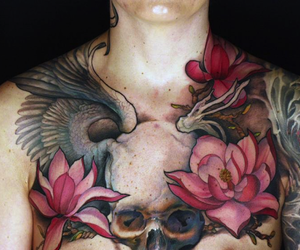 art, chest, and ink image