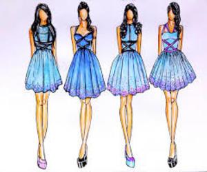 fashion, dress, and blue image
