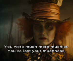 alice in wonderland, johnny depp, and quotes image