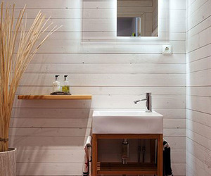 bamboo, bathroom, and sink image