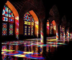 colors, mosque, and iran image