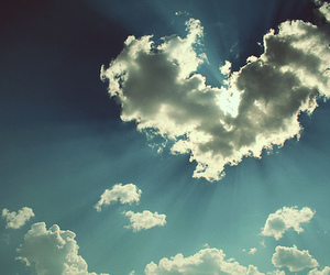 heart, sky, and cloud image