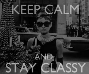 classy, keep calm, and audrey hepburn image