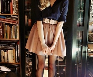 navy, outfit, and peach image