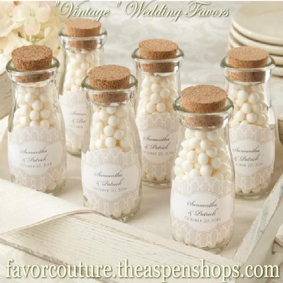 Bridal Shower Favors Make Your Shine Vintage Wedding Baby Personalized Milk Bottle