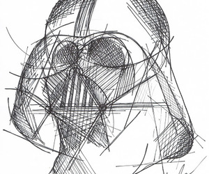 art, black, and dark side image