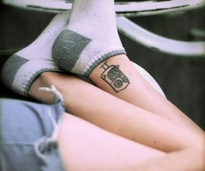 tattoo, coruja, and girl image