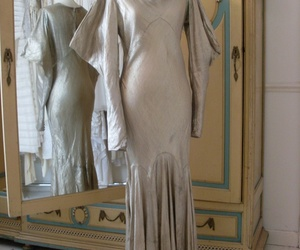 old hollywood, silver lame, and 1930s dress image