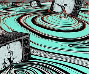 tv, trippy, and art image