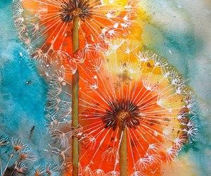 art, flowers, and dandelion image