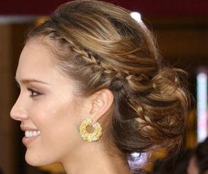 hair, braid, and jessica alba image