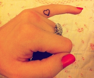 girl, tattoo, and heart image