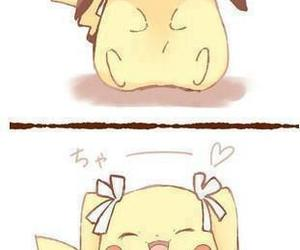 kawaii, cute, and pikachu image
