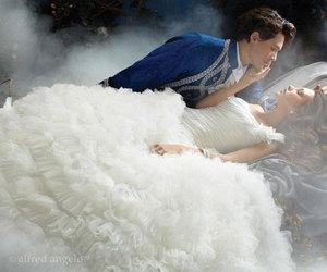 princess, prince, and wedding image