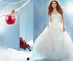 disney, dress, and wedding image