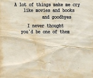 quote, cry, and book image