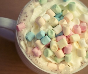 marshmallow, food, and drink image