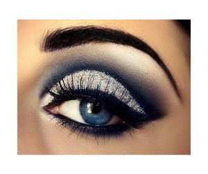 black, make up, and blaue augen image