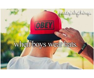 boy, hat, and obey image