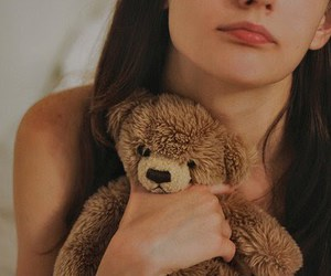 girl, teddy, and cute. image