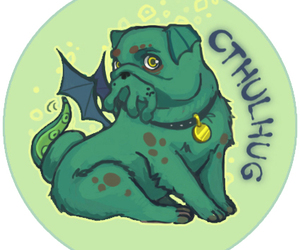 animals, cthulu, and dogs image